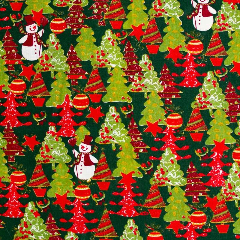 Catarinense - Coleção Natal - Bonecos de Neve e Árvores de Natal - 50cm X150cm