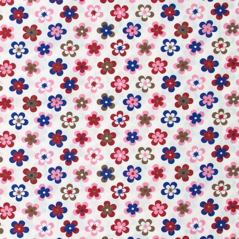 Catarinense - Flores Diversas Coloridas Fundo Bege -  50cm X150cm
