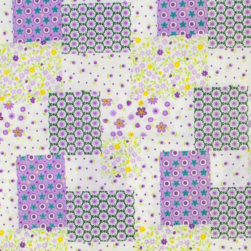 Catarinense - Patch Floral Roxo/Amarelo - 50cm X150cm