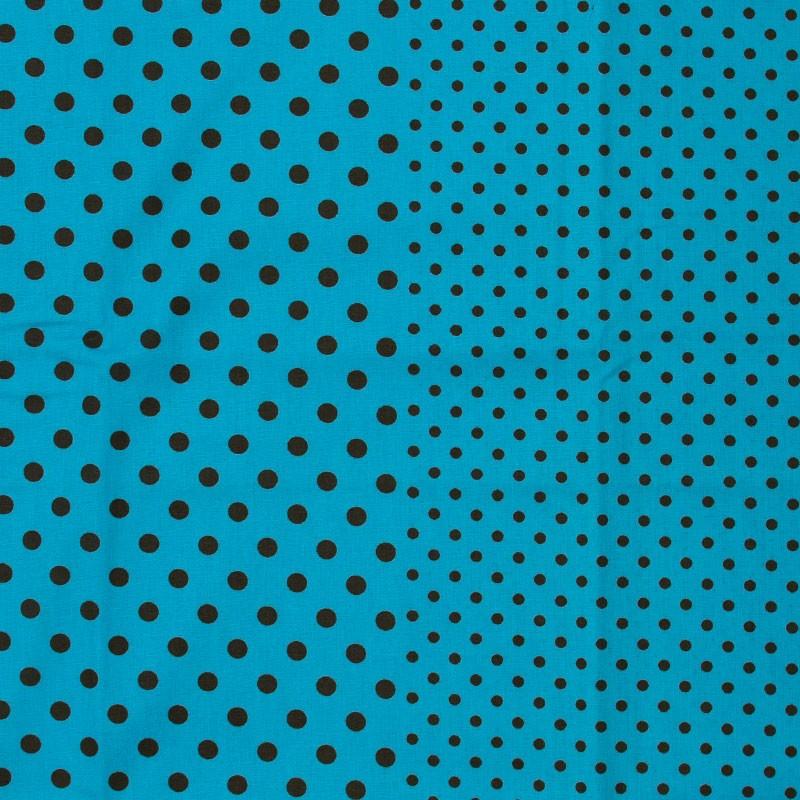 Catarinense - Poá Marrom Com Fundo Azul Claro - 50cm X150cm