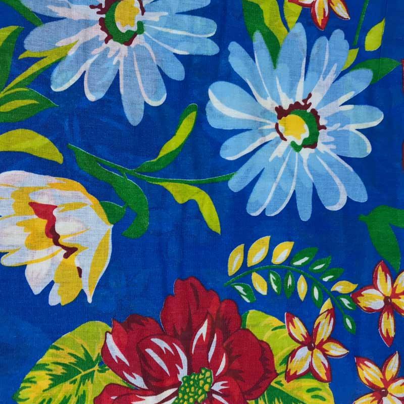 Chita Borboleta Floral Fundo Azul 50cm x 140cm
