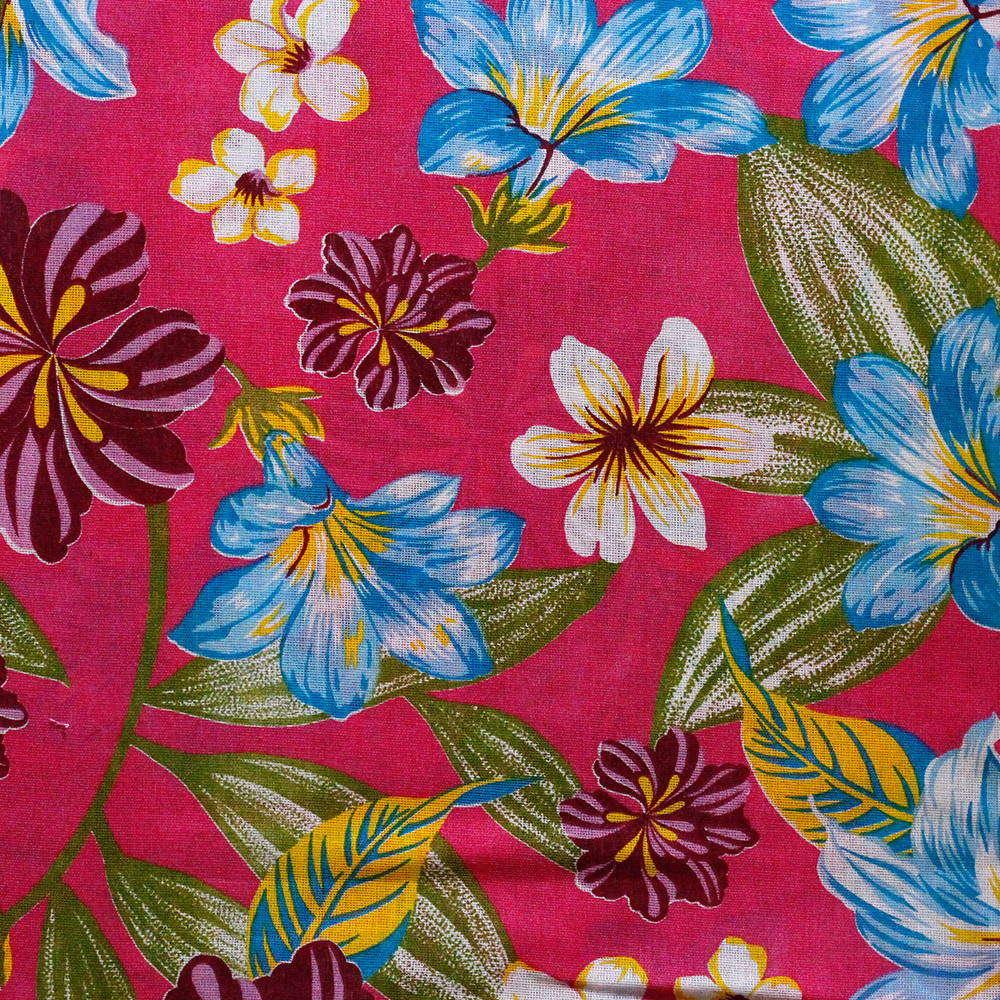 Chita Floral Fundo Rosa