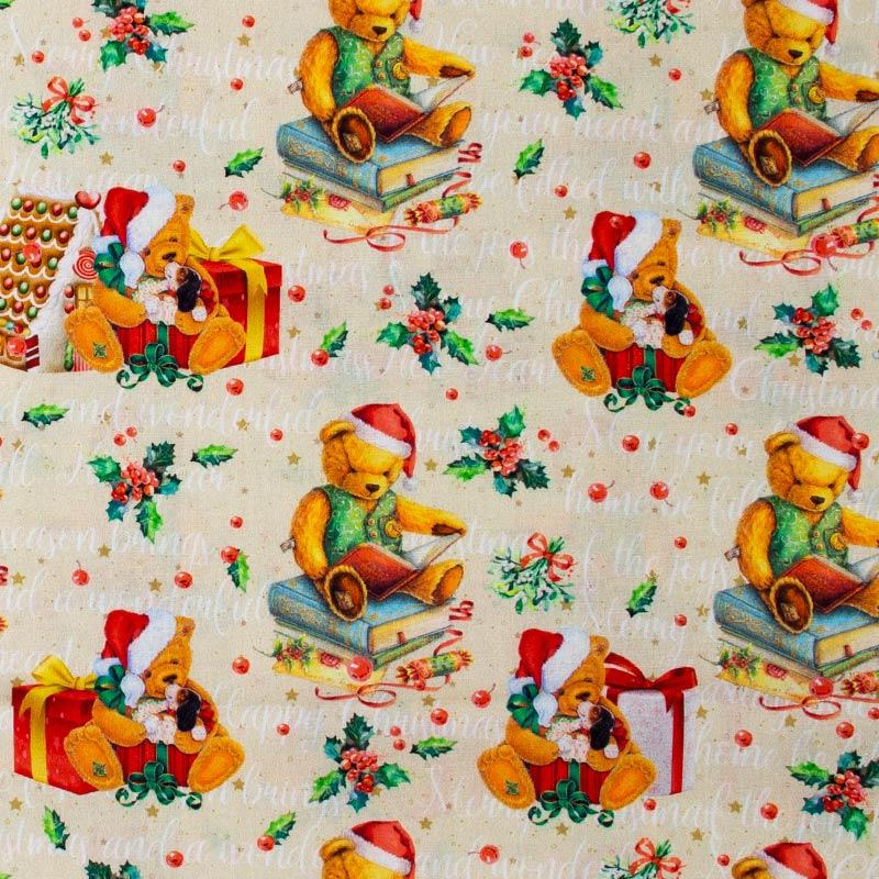 Coleção Natal - Ursinhos Natalinos - 50cm X150cm
