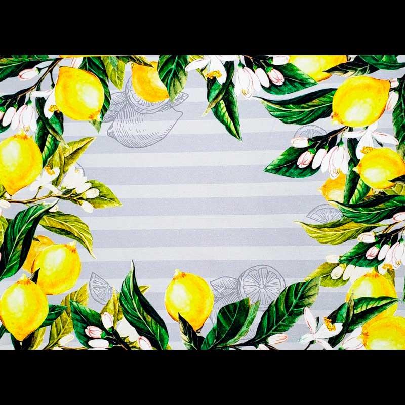 Cris Mazzer - Coleção Sarja Limão Limoeiro Jogo Americano - 50cm X150cm