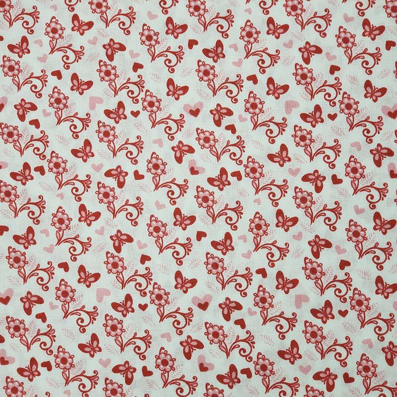 Cris Mazzer - Estampa Borboletas Rosa - 50cm x 150cm