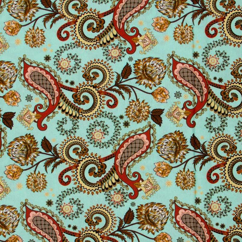 Cris Mazzer - Estampa Cashmere Tiffany - 50cm x 150cm
