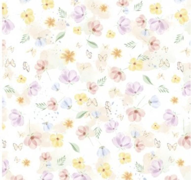 Cris Mazzer - Estampa Coleção Páscoa Flores - 50cm x 150cm