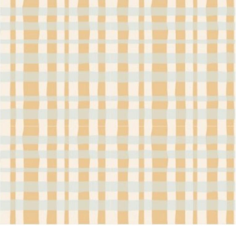 Cris Mazzer - Estampa Coleção Páscoa Xadrez Amarelo - 50cm x 150cm