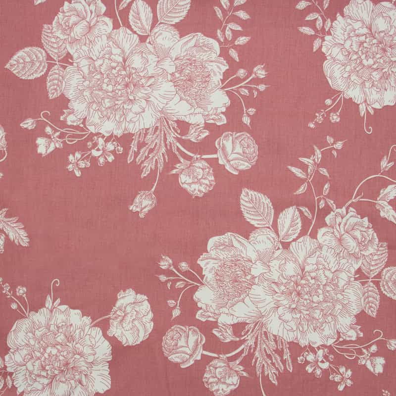Cris Mazzer - Estampa Flores Rosa - 50cm x 150cm