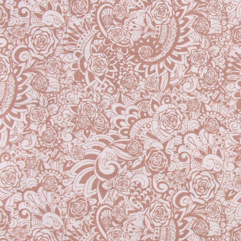 Cris Mazzer - Estampa Jardim das Rosas - 50cm x 150cm