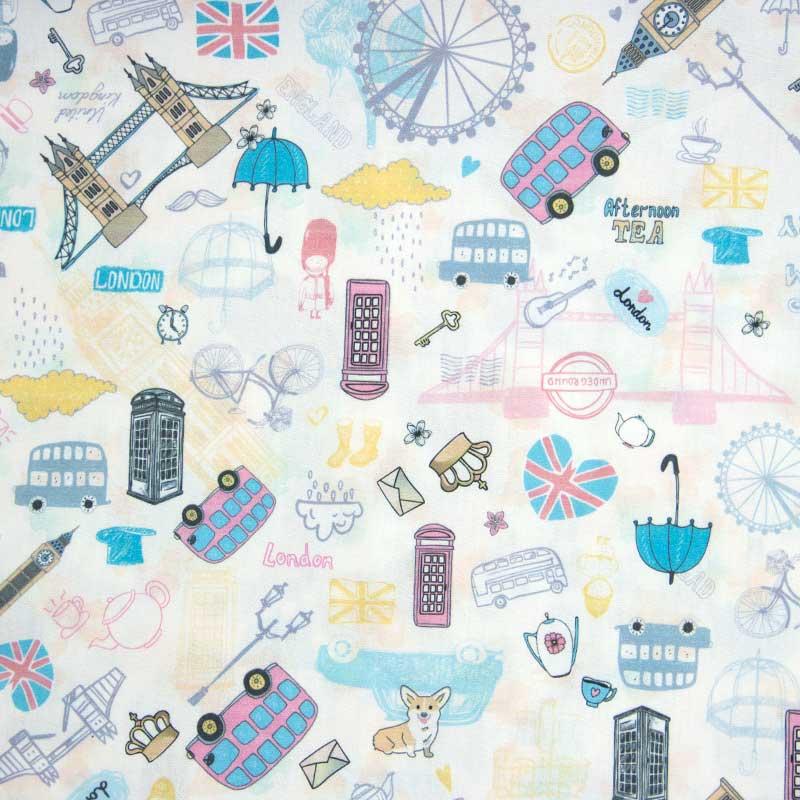 Cris Mazzer - Estampa London  - 50cm x 150cm