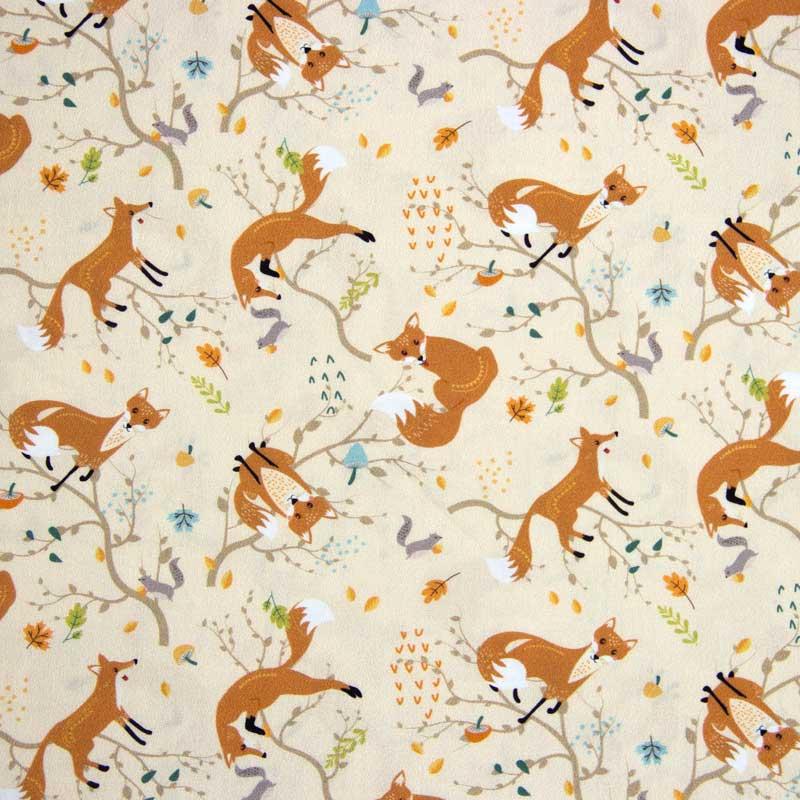 Cris Mazzer - Estampa Raposas  - 50cm x 150cm