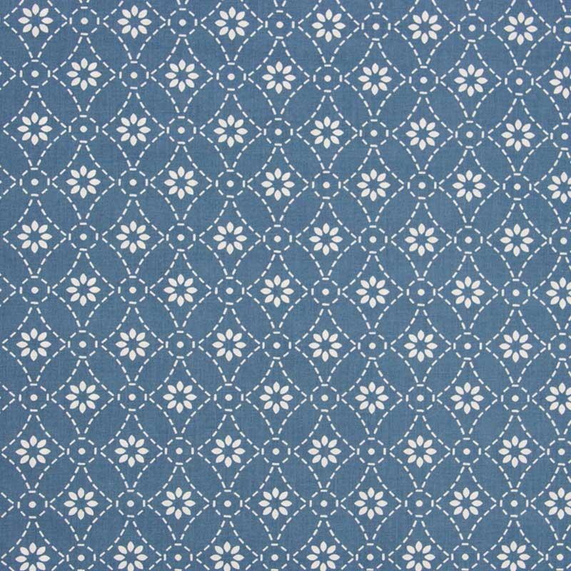Cris Mazzer - Estampa Rebordando Azul - 50cm x 150cm