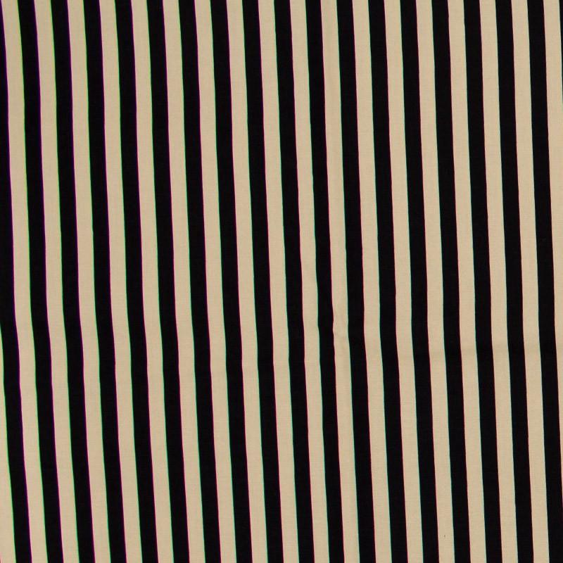 Cris Mazzer - Estampa Vintage Listrado Preto - 50cm x 150cm