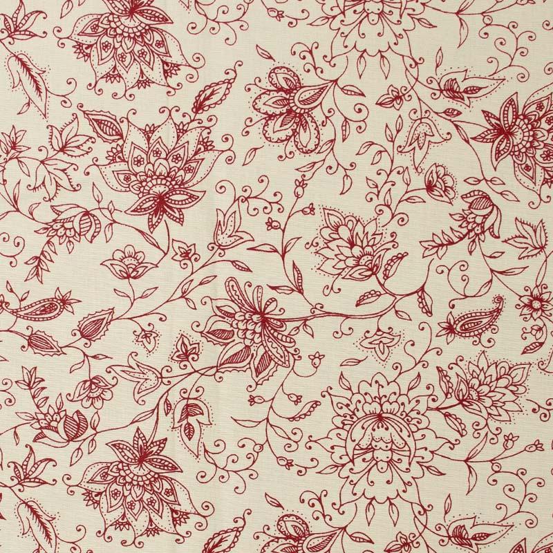 Cris Mazzer - Estampa Vintage Vermelho - 50cm x 150cm