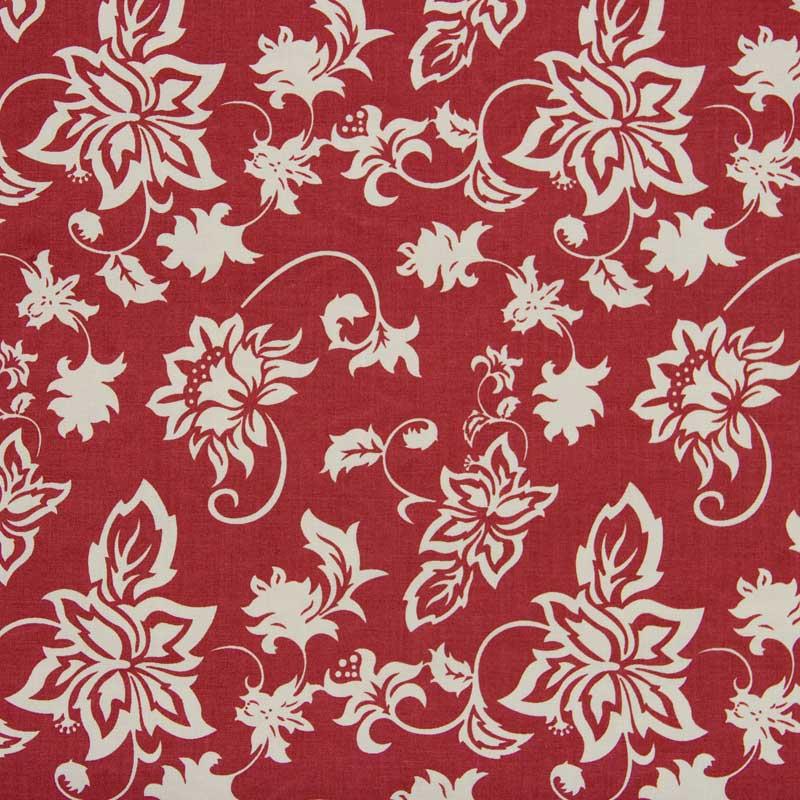 Cris Mazzer - Estampa Vintage Vermelho Floral - 50cm x 150cm