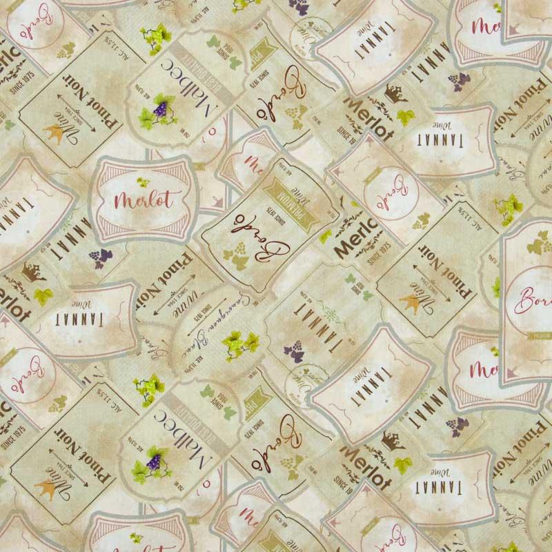 Cris Mazzer - Toscana - Estampa Rótulos  - 50cm x 150cm