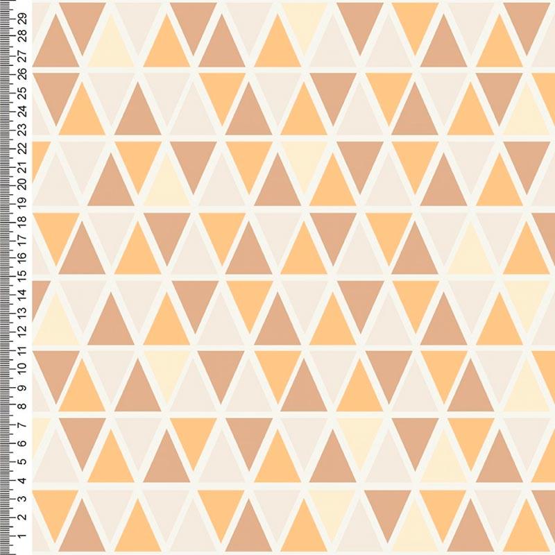 Cris Mazzer - Ursinhos Rose Perucci Triângulos - 50cm x 150cm