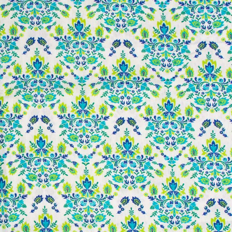 Decorart - Arabesco Verde Com Fundo Branco - 50cm x 150cm