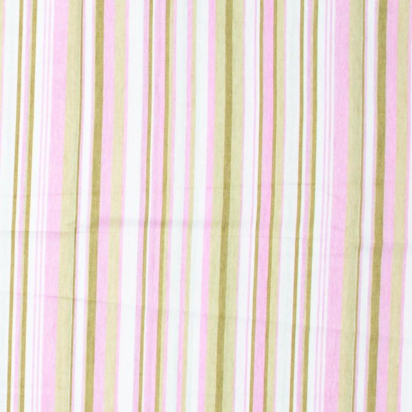 Decorart - Listrado Azul Claro/Rosa/Marrom - 50cm x 150cm