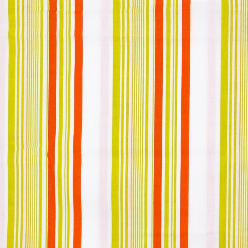 Decorart - Listrado laranja/Verde/Branco - 50cm x 150cm