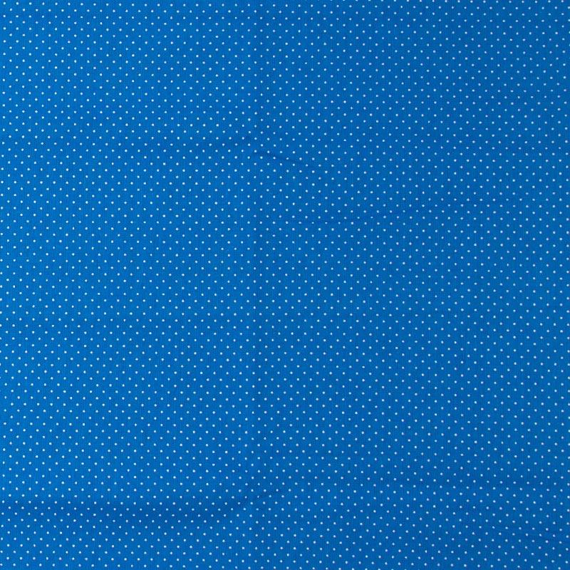Decorart - Micro Poá Branco Com Fundo Azul - 50cm x 150cm