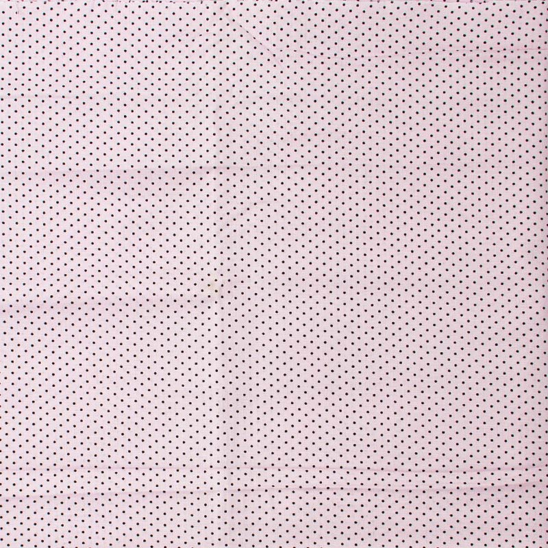 Decorart - Poá Preto Com Fundo Rosa - 50cm x 150cm