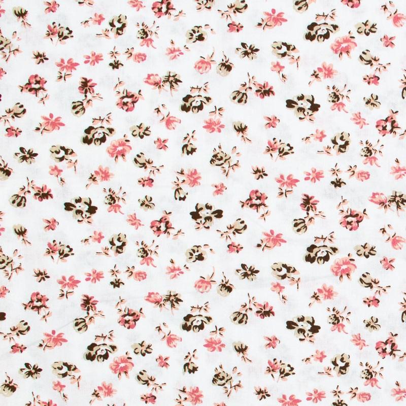 Decorart - Rosas Rose Claro Com Fundo Branco - 50cm x 150cm