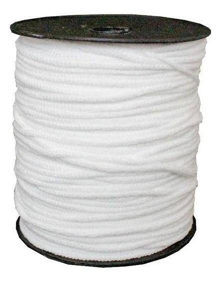 Elástico Roliço Macio 3mm Branco  - 1 metro