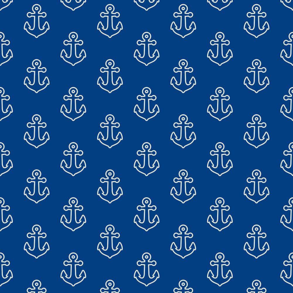 Fabricart Signature - Coleção Marítima - Estampa Âncoras - 50cm x 150cm