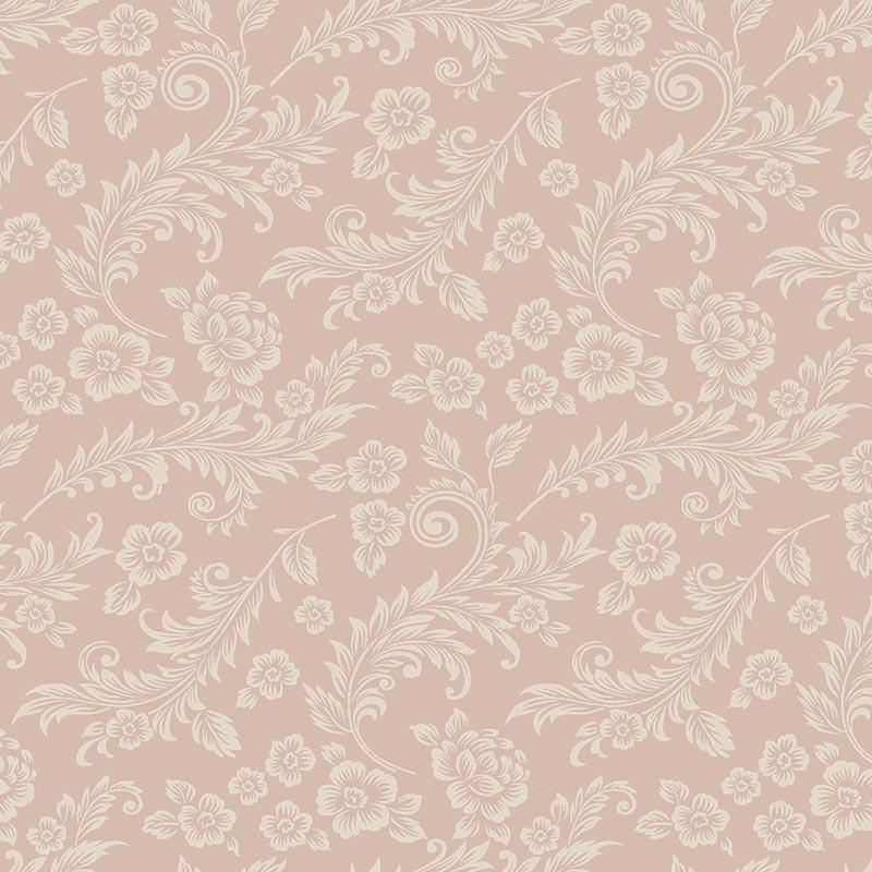 Fabricart Coleção Jacobean - Arabesco Rosê - 50cm x 150cm