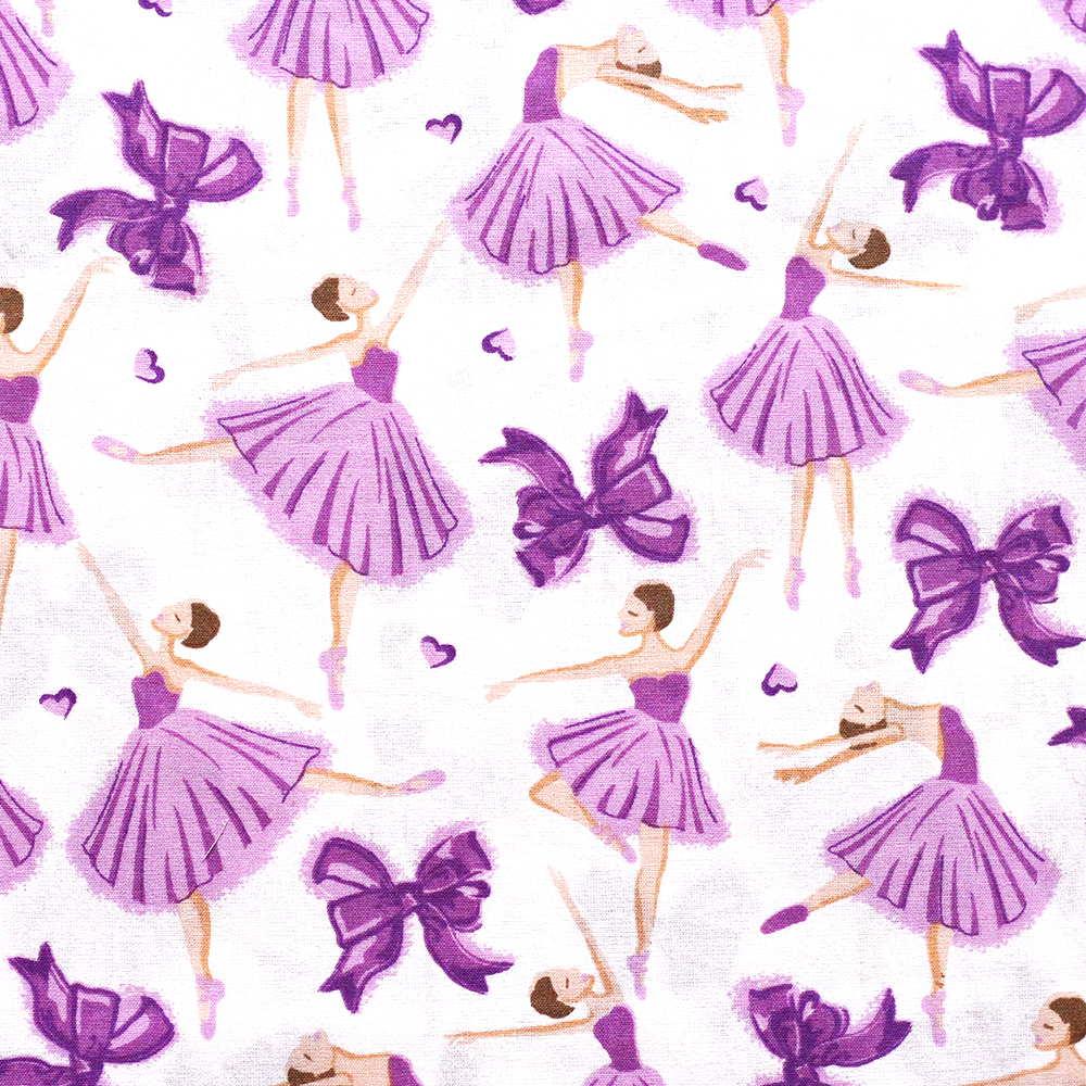 Estampa Bailarinas Lilas