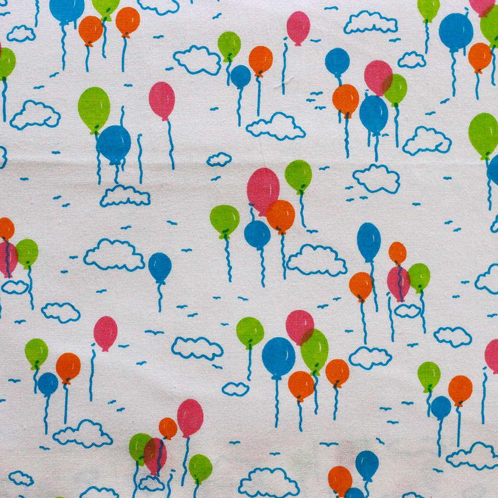 Estampa Balões Coloridos Fundo Branco