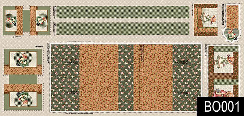Fuxicos e Fricotes - Coleção Bolsas Faça Você Mesmo - Painel Bolsa Sunbonet - 70cm X150cm