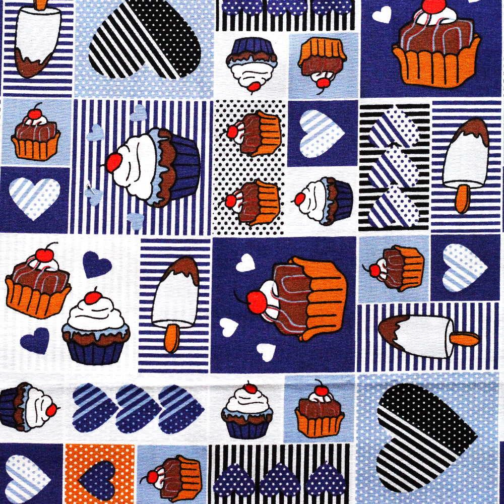 Estampa Cupcake Azul