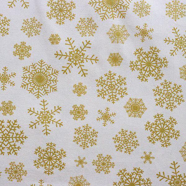 Estampa Floco de Neve Dourado Fundo Bege