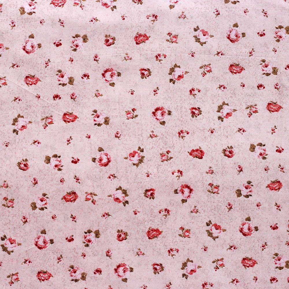 Estampa Floral Rosa Fundo Poeirinha