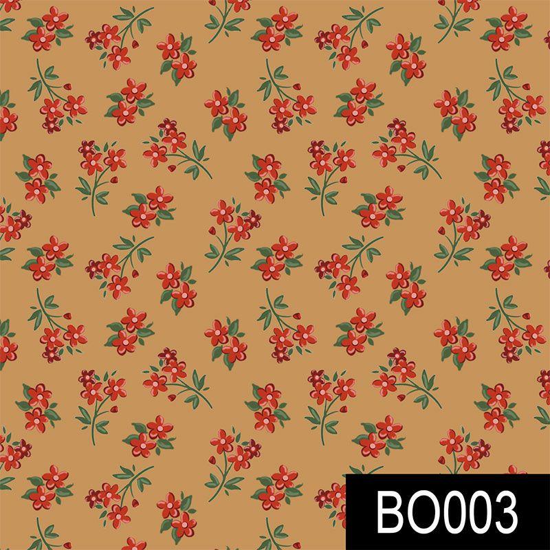 Fuxicos e Fricotes - Coleção Bolsas Faça Você Mesmo - Mini flores Caramelo - 50cm X150cm