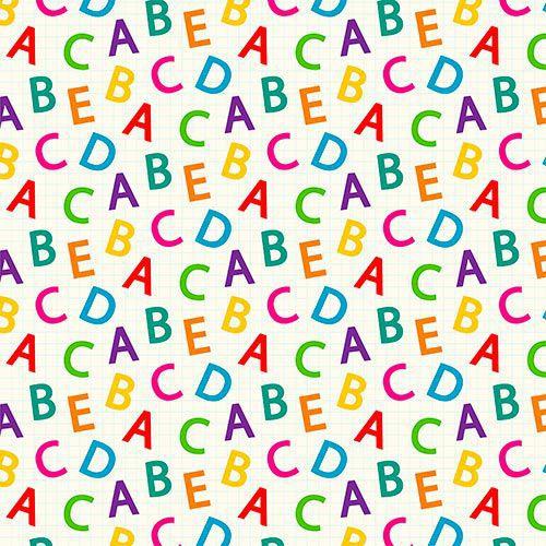 Estampa Letras Coloridas