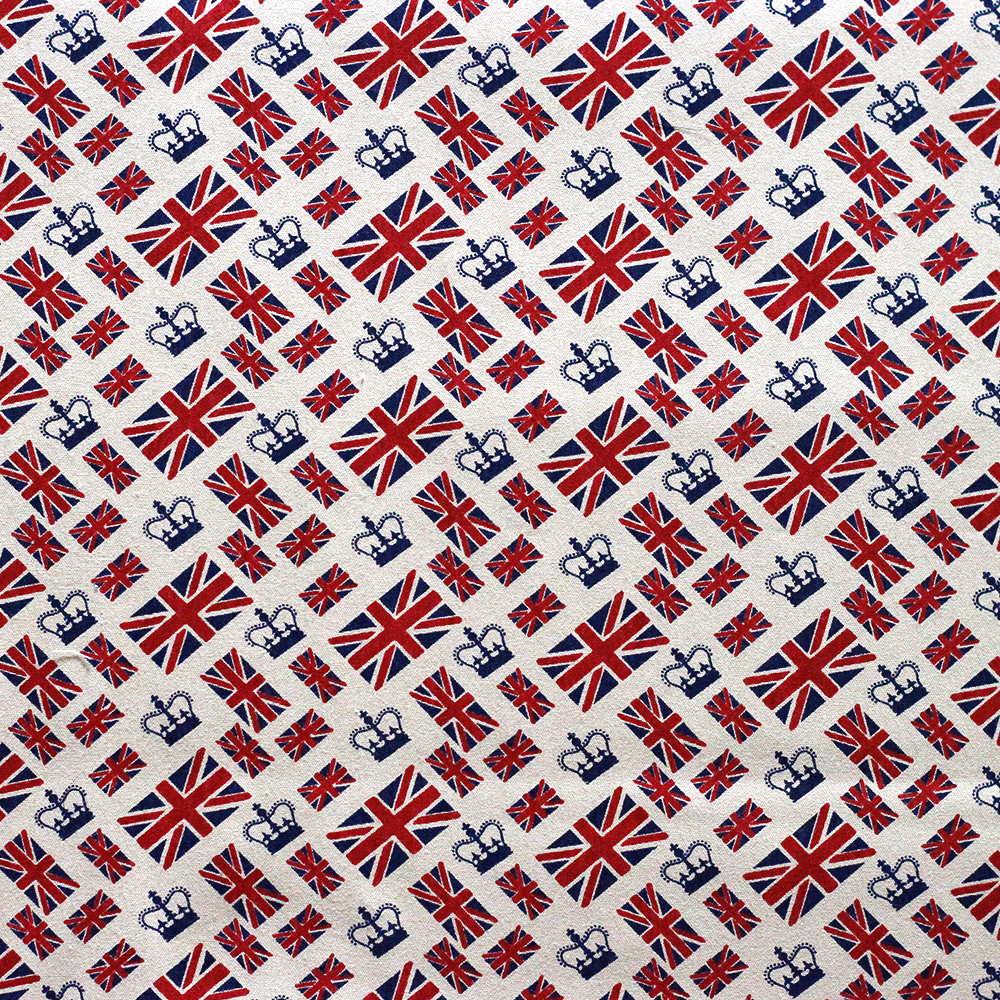 Estampa Londres Bandeira Fundo Bege