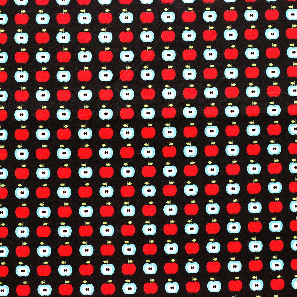Estampa Maças Vermelho e Azul