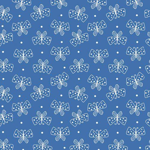 Estampa Mini Borboletas Azul Royal