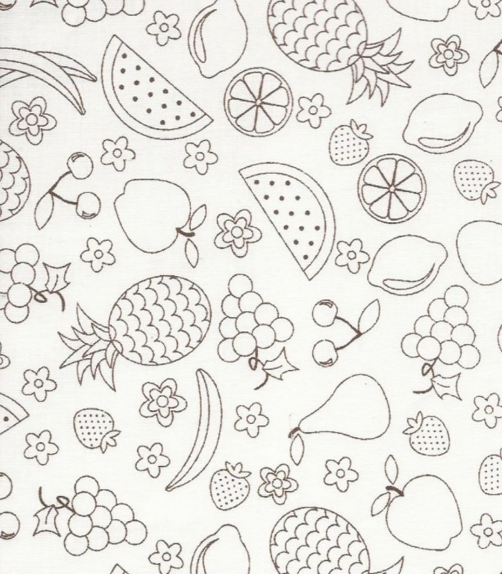 Estampa Moda Frutas Branco