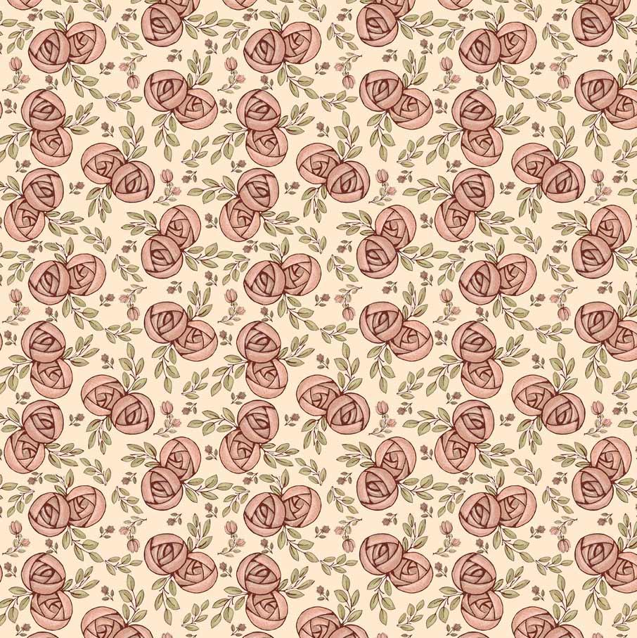 Estampa Necessaire Rosas