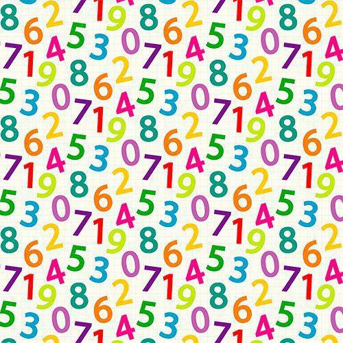 Estampa Números Coloridos