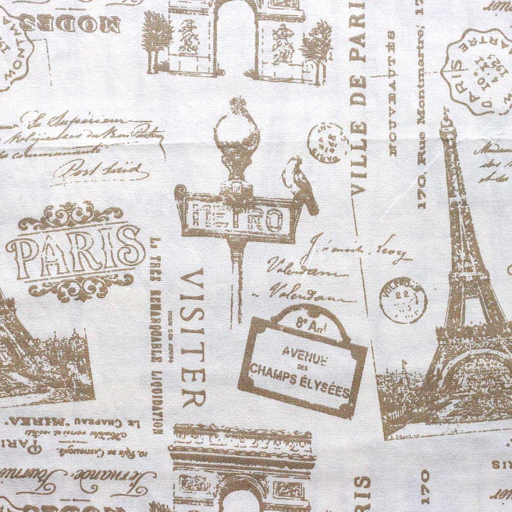 Estampa Paris Bege