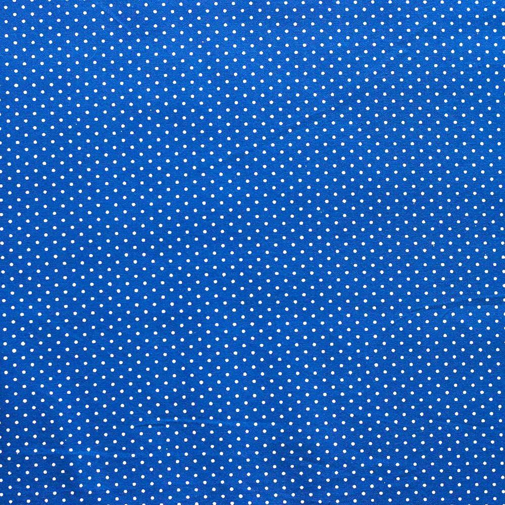 Estampa Poá Branco Azul 3