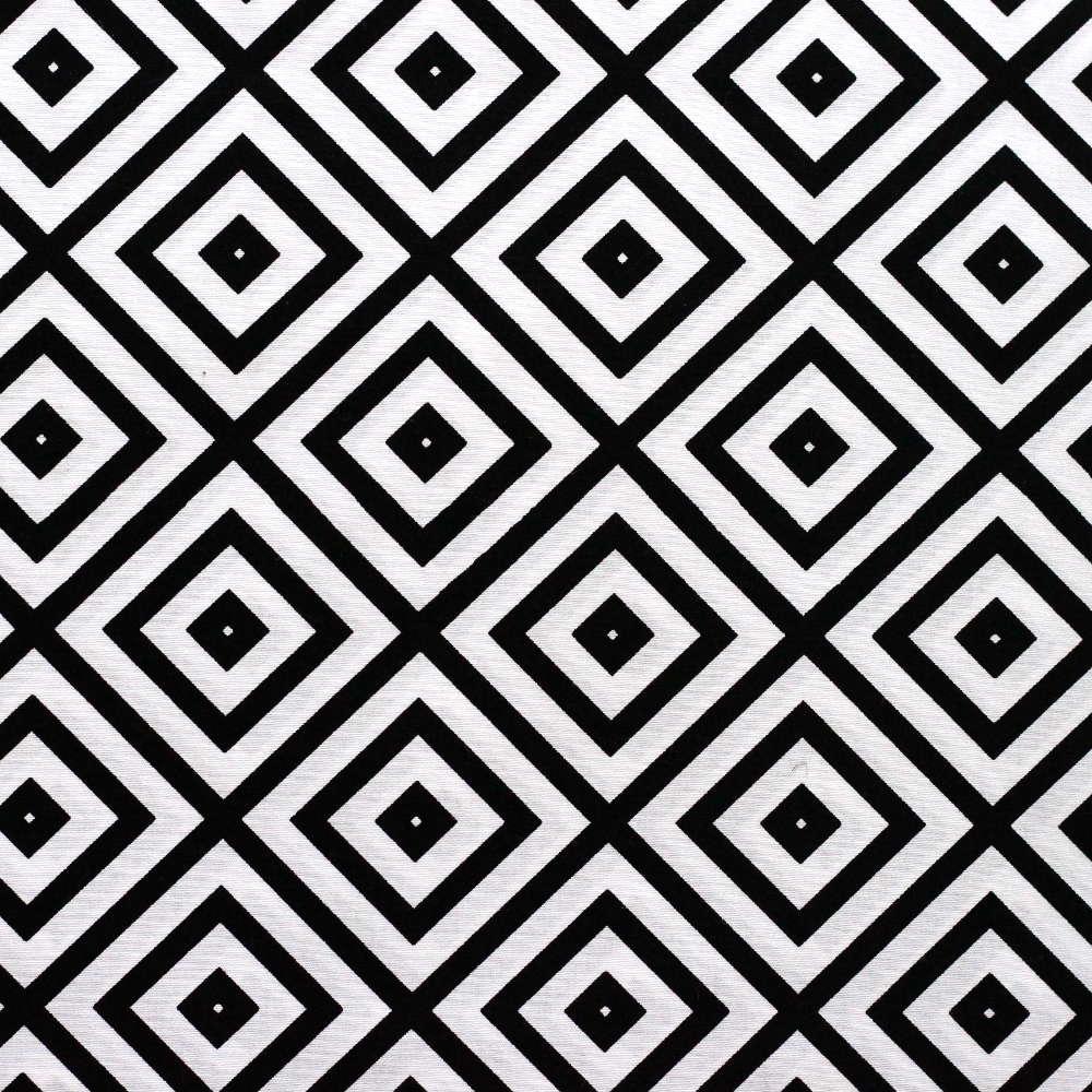 Estampa Quadrados Preto e Branco