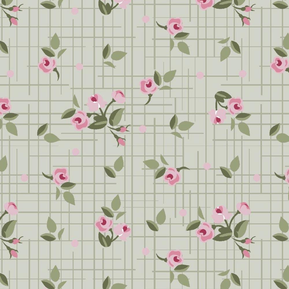 Estampa Texturinha Floral Verde