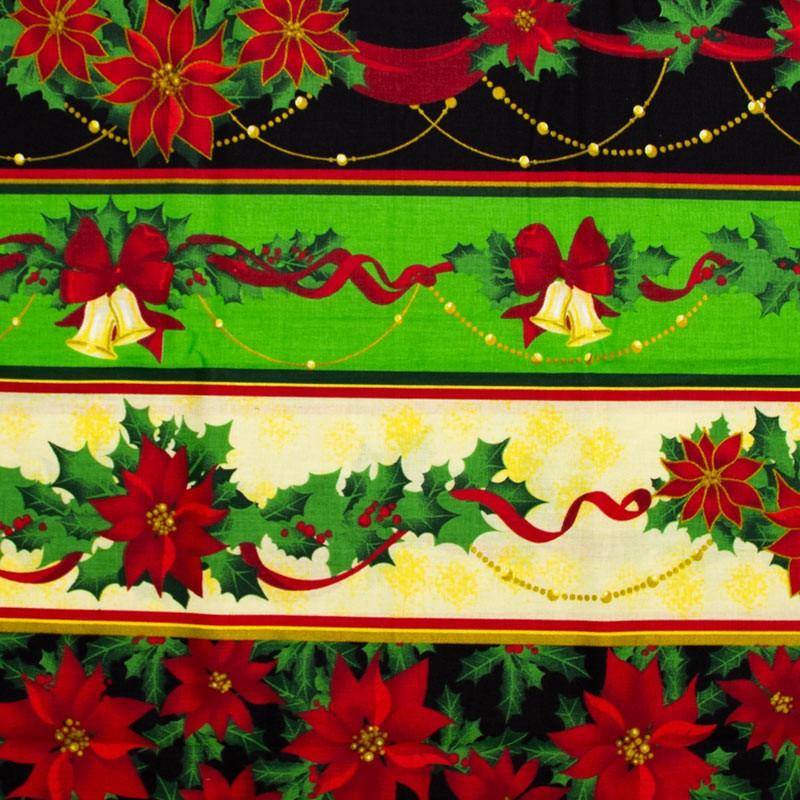 Estilotex - Coleção Natal - Sinos de Natal - 50cm X150cm